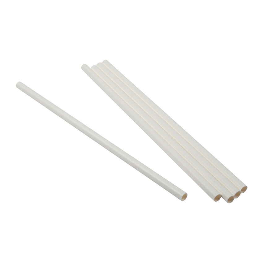 "10.25"" GIANT UNWRAPPED WHITE PAPER STRAW, Group View"
