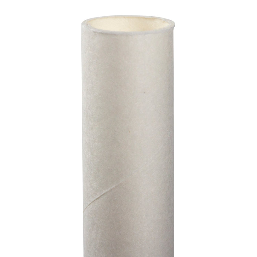 "10.25"" GIANT UNWRAPPED WHITE PAPER STRAW, Detailed Upright View"