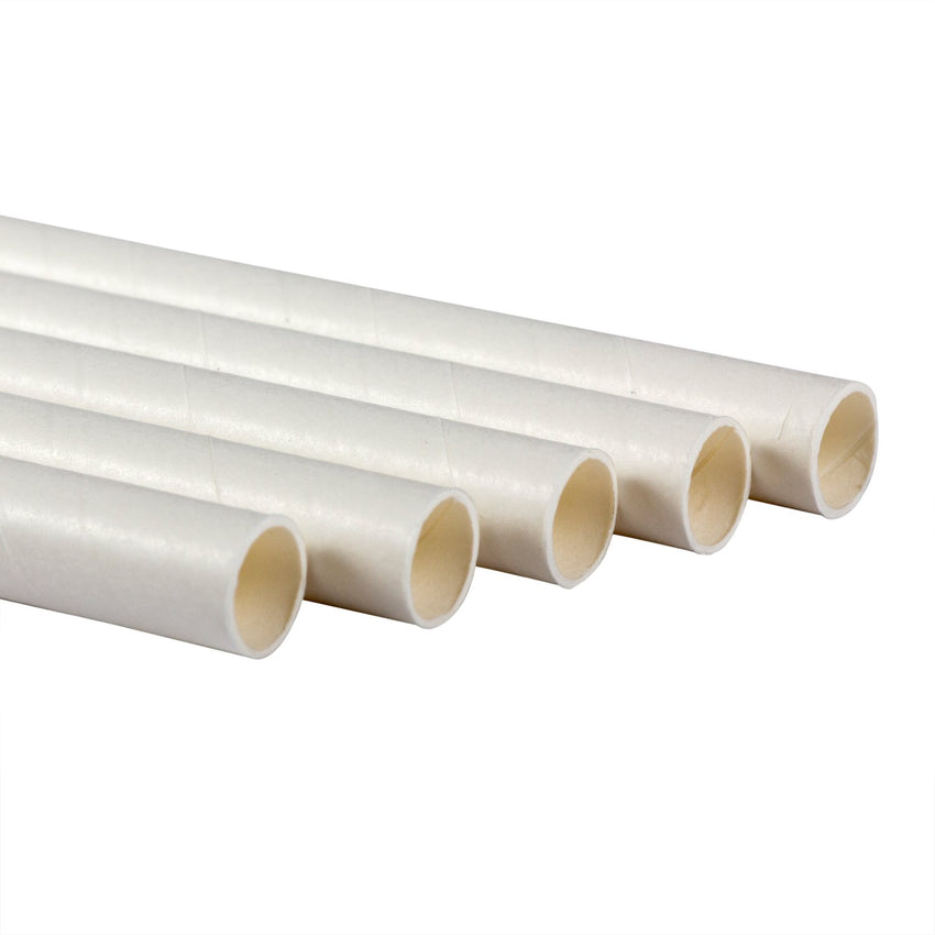 "10.25"" GIANT UNWRAPPED WHITE PAPER STRAW, Detailed Group View"