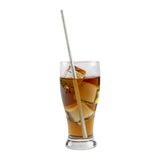 "10.25"" GIANT UNWRAPPED WHITE PAPER STRAW, Straw in Drink"