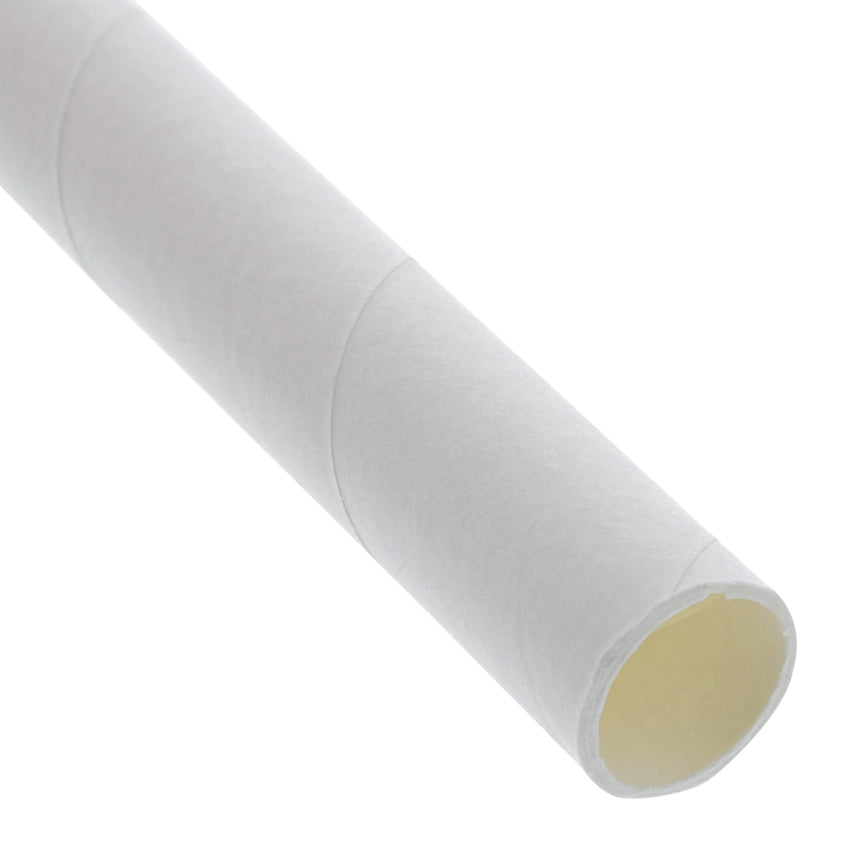 "10.25"" GIANT UNWRAPPED WHITE PAPER STRAW, Detailed View"