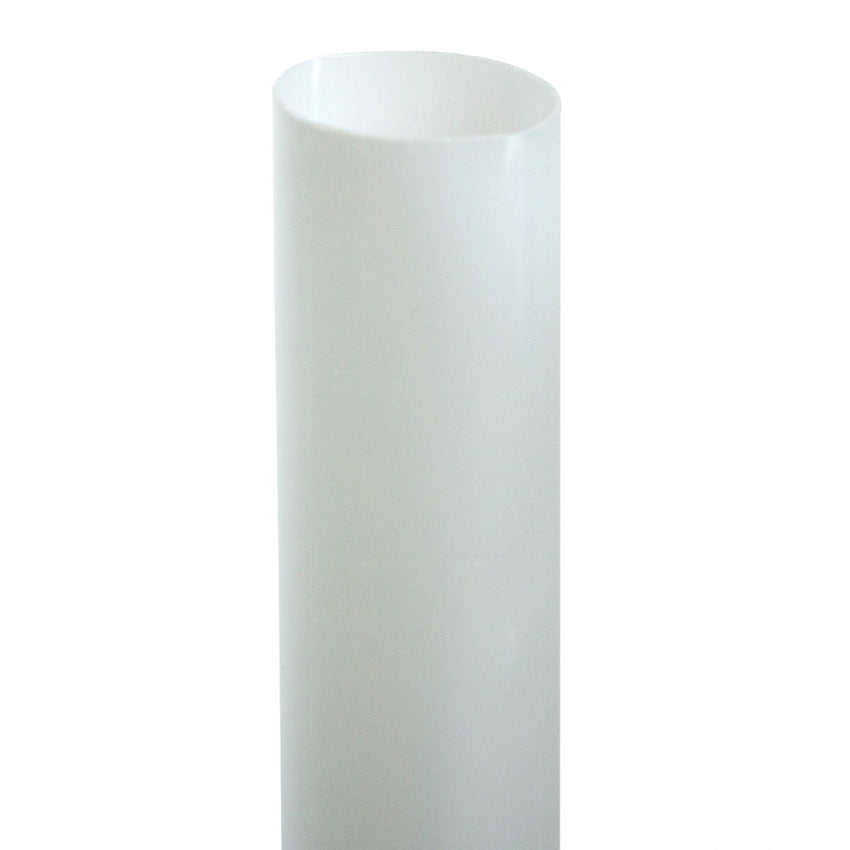 "7.75"" JUMBO CLEAR PAPER WRAPPED PLA STRAW, Upright Detailed View"