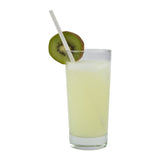 "WHITE 7.75"" JUMBO PAPER WRAPPED PAPER STRAW, Straw in Drink"
