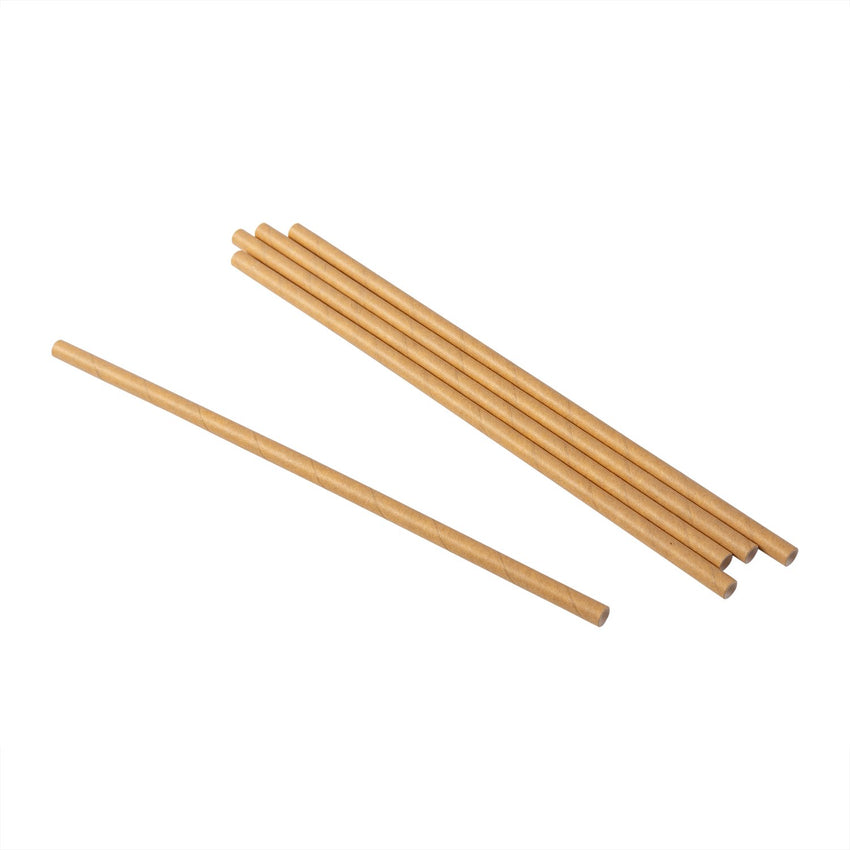 "7.75"" JUMBO UNWRAPPED KRAFT PAPER STRAW, Scattered Straw View"