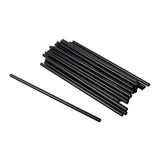 "Straw Cocktail Super Jumbo 8"" Black, Case 1500"