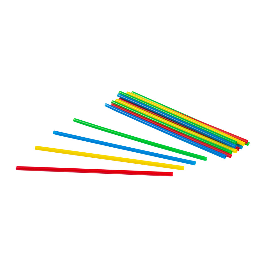 "Straw Cocktail Sturdy Sips 6"" Assorted, Case 500x20"