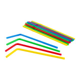 "Straw Flex 8"" Assorted Colour, Case 250x9"