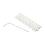 "Straw Flex 8"" White, Case 200x9"