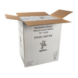 "Straw Milkshake 10"" White Paper Wrapped, Case 500x12"