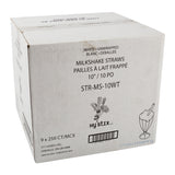 "Straw Milkshake 10"" White, Case 250x9"