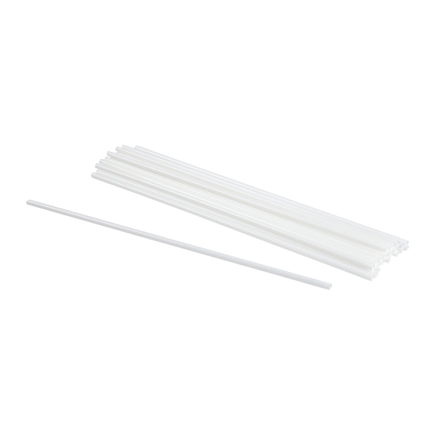 "Straw Regular 10"" Small White, Case 1000x10"