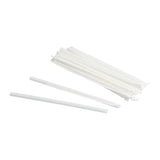 "Straw Super Jumbo 8"" White Paper Wrapped, Case 300x6"