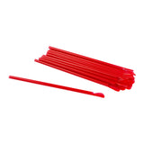 "Straw Spoon 8"" Red, Case 200x9"