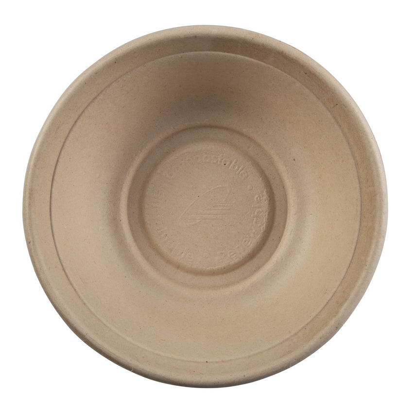 Tan Bowl 32oz, Overhead View