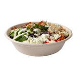 Tan Bowl 32oz, with food