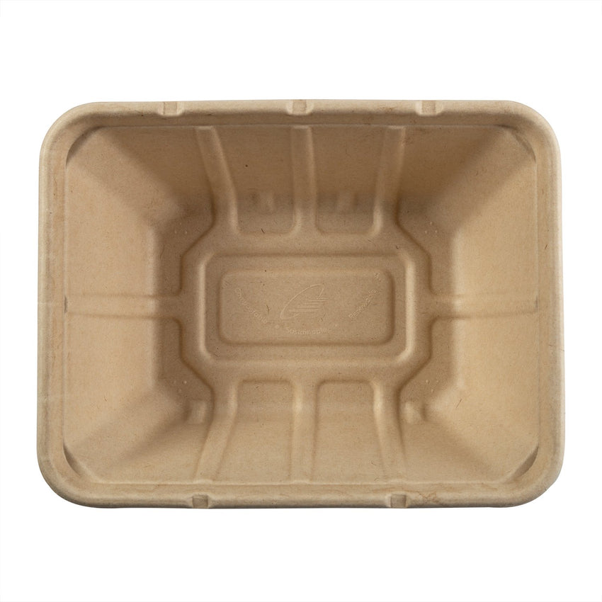 "Deep Tan Tubs 7"" x 9"" x 3.125"", Overhead View"