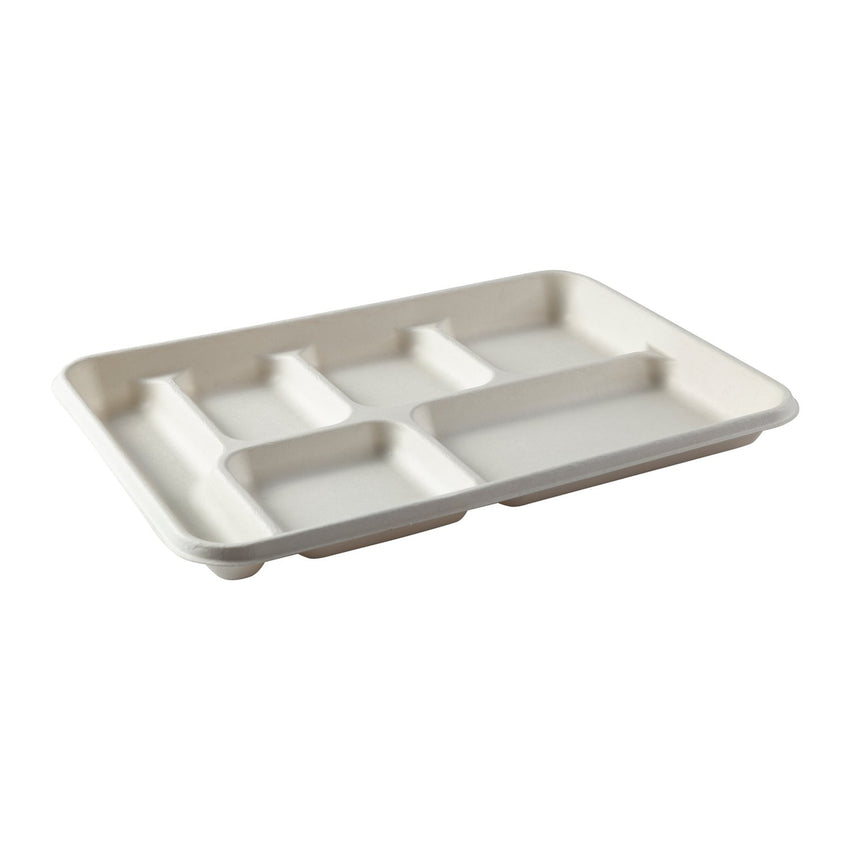 6 Compartment Trays, Tilted View