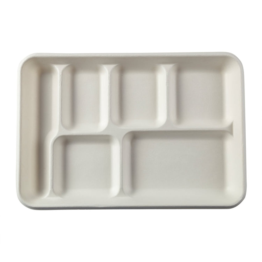 6 Compartment Trays, Overhead View