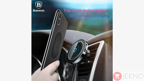 Magnetic Wireless Car Smartphone Charger/Holder (iPhone X, 8, 8 Plus + Samsung S8 S7) - jeenostore