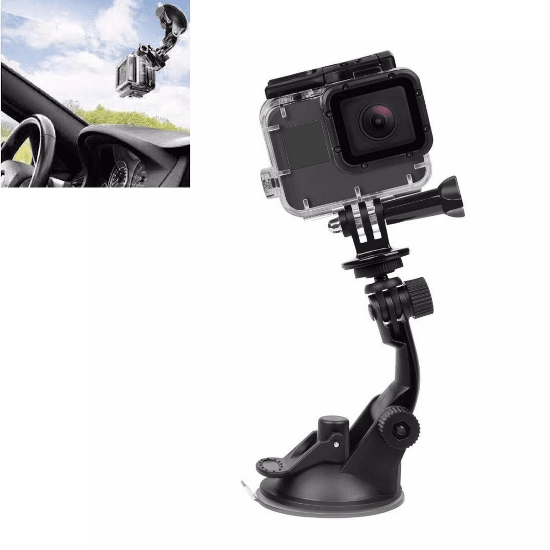 Windshield Suction Cup Mount for Gopro (Hero 6, 5, 4, 3,) - jeenostore