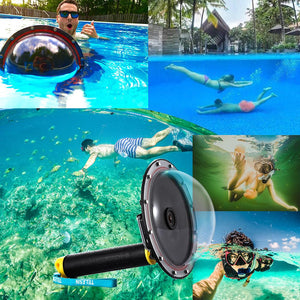 "6"" GoPro Dome Waterproof Case - Get Those Amazing Underwater Shots! - jeenostore"