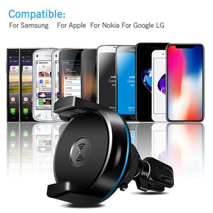 Car Qi Wireless Charger (iPhone X 8 for Samsung Note 8 S8 S7 Edge) - jeenostore
