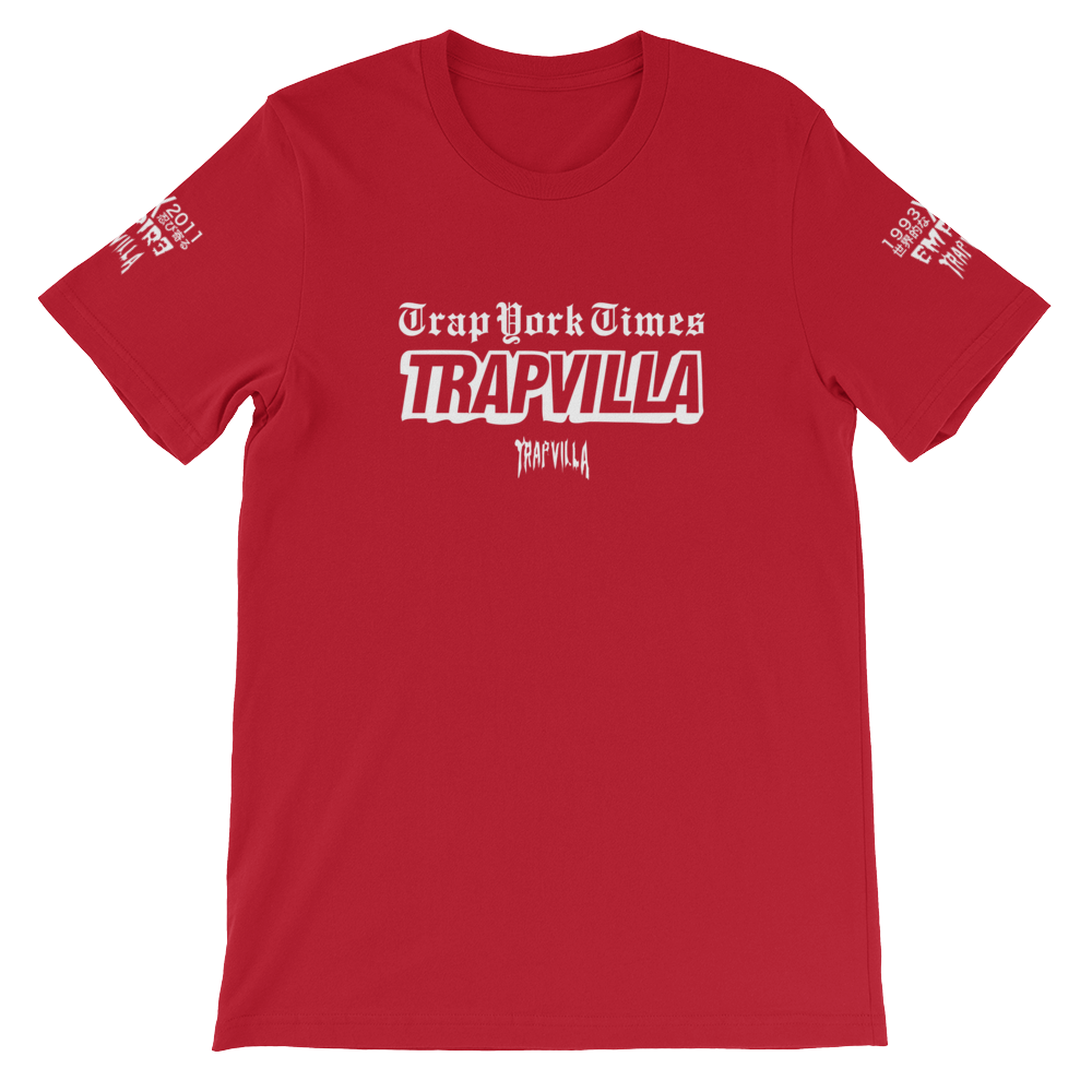 "TrapvillaORIGINALS - ""Trap York Times"" Short-Sleeve Unisex T-Shirt"