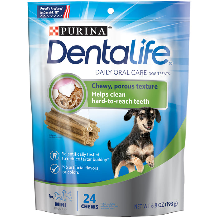 DENTALIFE Mini Daily Oral Care Dog Treats 24 Chews
