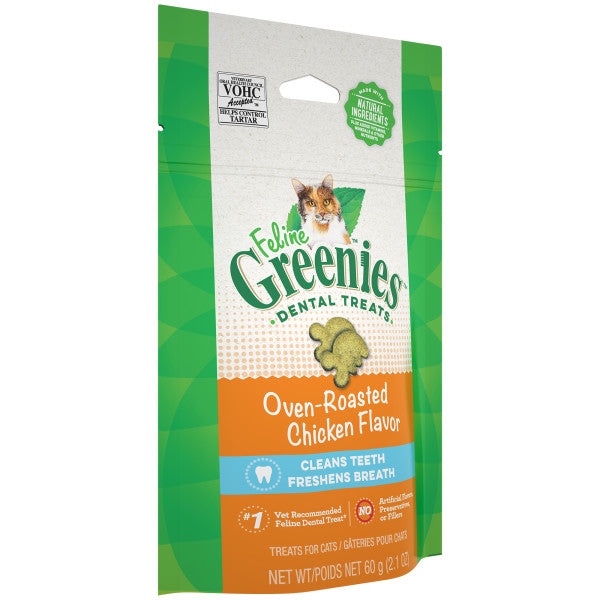 Greenies Feline Dental Treats Roasted Chicken 60g