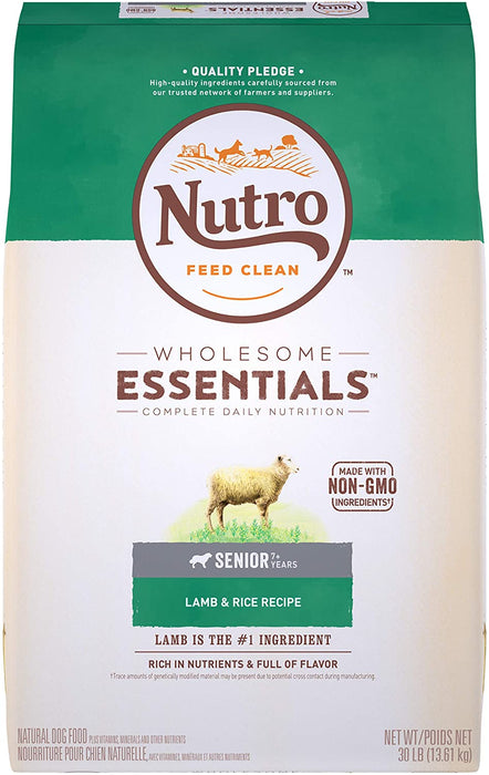 NUTRO Wholesome Essentials Senior All Breed Dry Dog Food with Lamb 13.6kg