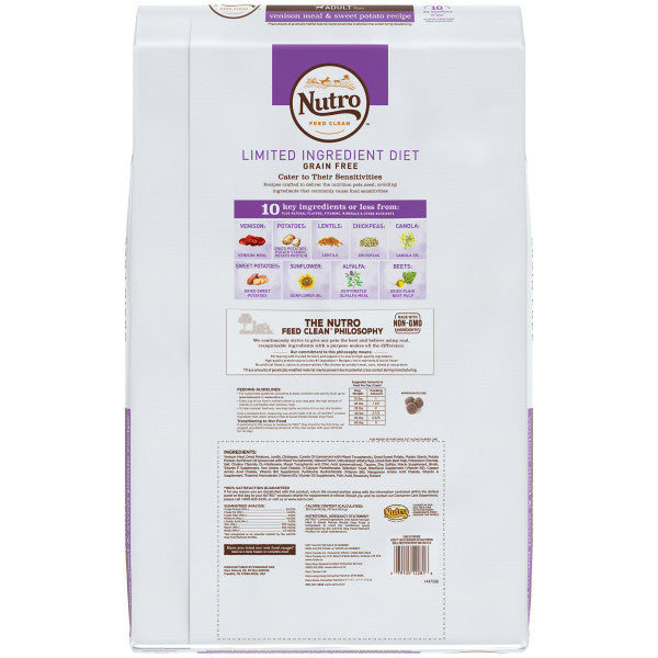 NUTRO Limited Ingredient Diet Adult All Breed with Venison 9.98kg