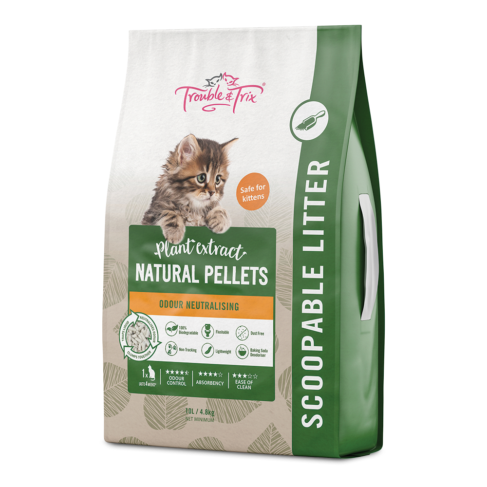 Trouble and Trix Plant Extract Natural Litter - 10 Litre