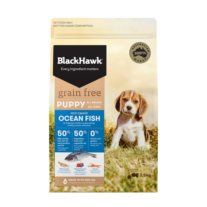 Black Hawk Grain Free Puppy Ocean Fish