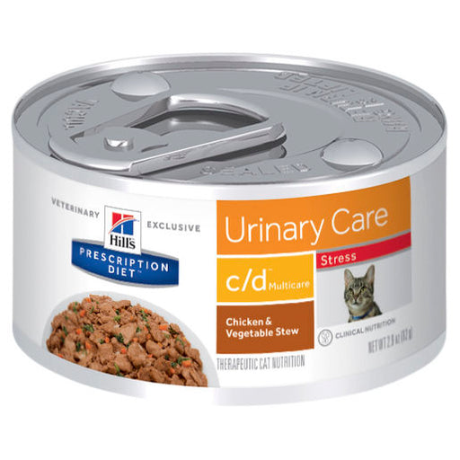 Hill's Prescription Diet c/d Multicare Stress Urinary Care Chicken & Vegetable Stew 82g 24pk
