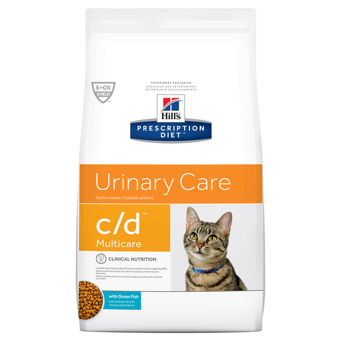 Hill's Prescription Diet c/d Multicare Urinary Care Ocean Fish Dry Cat Food 1.8kg