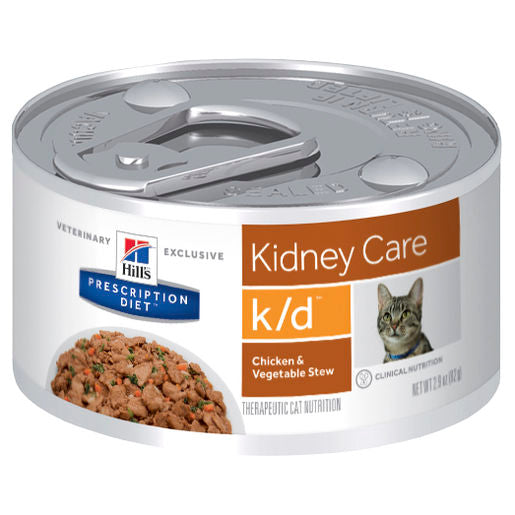 Hill's Prescription Diet k/d Kidney Care Chicken & Vegetable Stew 24 x 82g cans