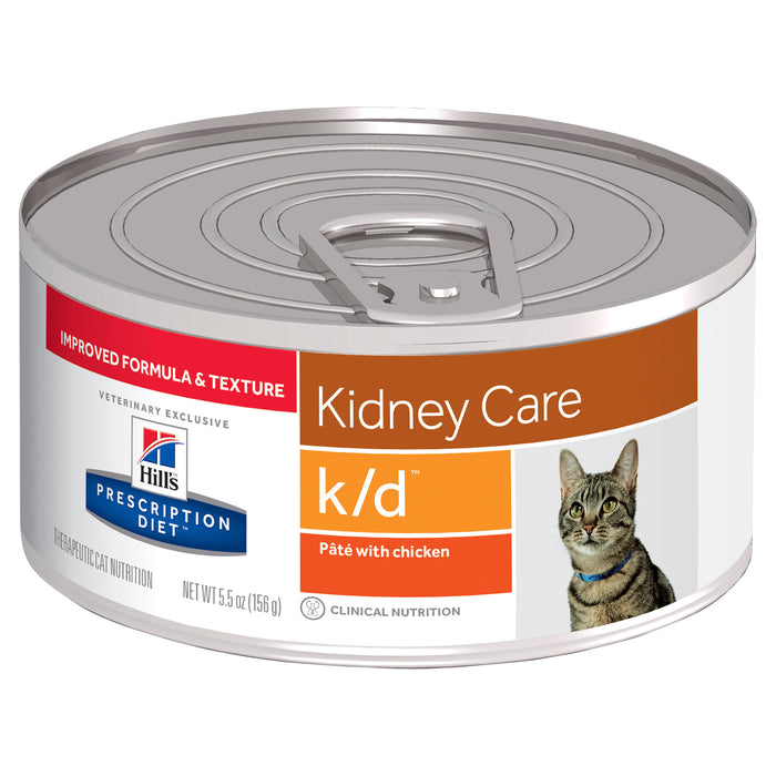 Hill's Prescription Diet k/d Kidney Care Pâté with Chicken Canned Cat Food 24 x 156g cans