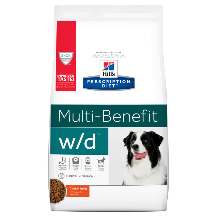 Hill's Prescription Diet w/d Multi-Benefit Digestive/Weight/Glucose/Urinary Management Dry Dog Food 3.85kg