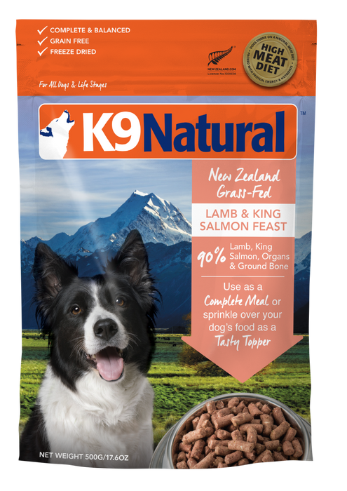 K9 Natural Freeze Dried Lamb and King Salmon 500g