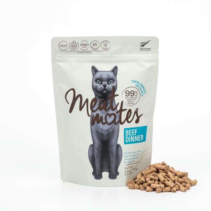 Meat Mates Meow Freeze Dried Beef Dinner