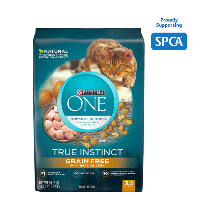 PURINA ONE True Instinct Natural Grain Free With Real Chicken Cat food 1.45kg