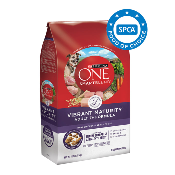 PURINA ONE SMARTBLEND Vibrant Maturity 7+ Formula Adult Premium Dog Food 3.63kg