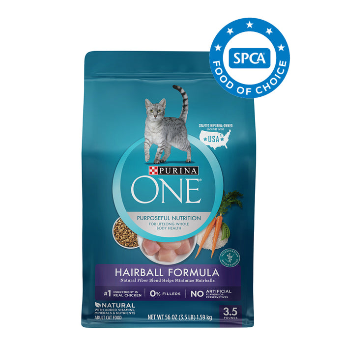 PURINA ONE Hairball Formula Adult Cat Food 1.59kg