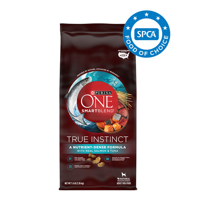 PURINA ONE SMARTBLEND True Instinct with Real Salmon & Tuna Adult Premium Dog Food 3.36kg