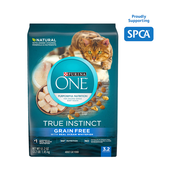 PURINA ONE True Instinct Natural Grain Free With Real Ocean Whitefish 1.45kg