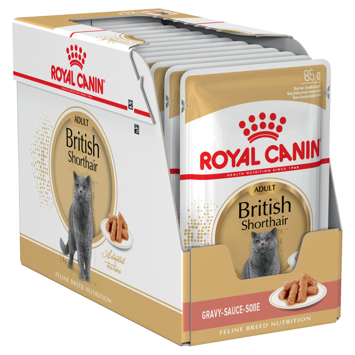 Royal Canin British Short Hair Gravy pouches 12 x 85g