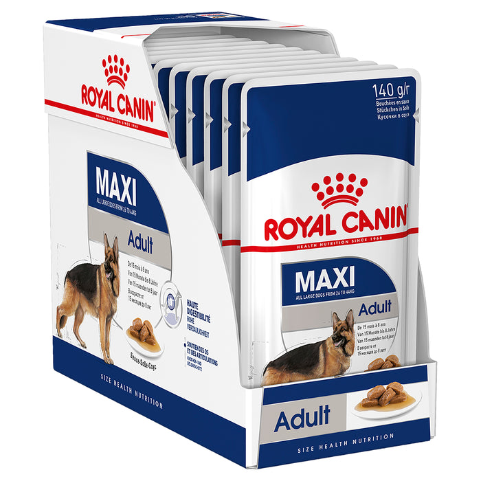 Royal Canin Maxi Adult Wet Dog Food Pouches 140g x 10
