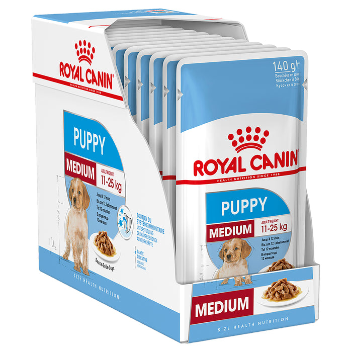 Royal Canin Medium Puppy Gravy Pouches 10 x 140g