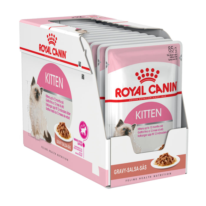 Royal Canin Kitten Gravy pouches 12 x 85g