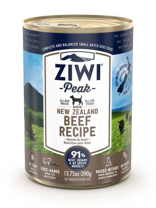 Ziwi Peak Canned Beef Dog Food 390g x 12